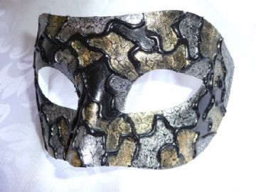 Genuine Venetian Exclusive Gold & Silve  Half Mask